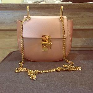 Handbags - Rose pink and gold crossbody